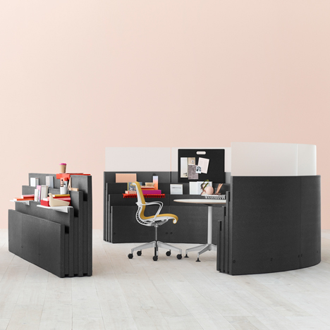"Studio 7.5 designs foam ""hackable"" office system for Herman Miller"