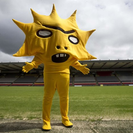Kingsley, David Shrigley's mascot for Partick Thistle