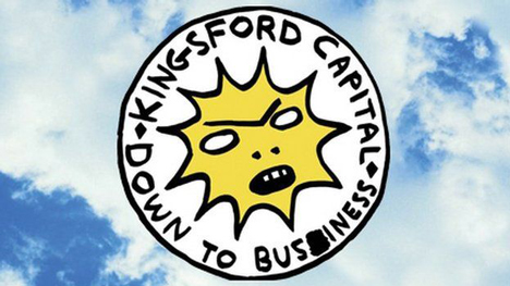 David Shrigley's logo for Partick Thistle sponsor Kingsley Capital
