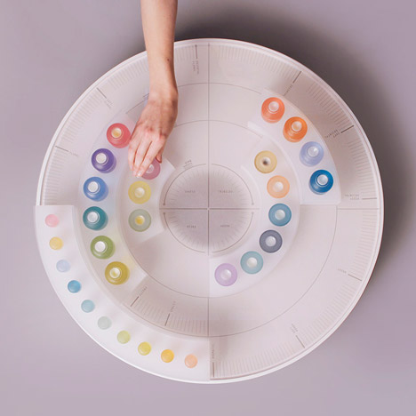Kyugum Hwang creates coloured Scent Palette for customising perfumes