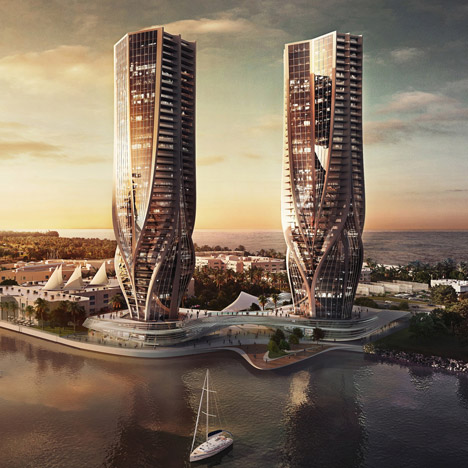 Zaha Hadid proposes a pair of tapered towers for Australia's Gold Coast