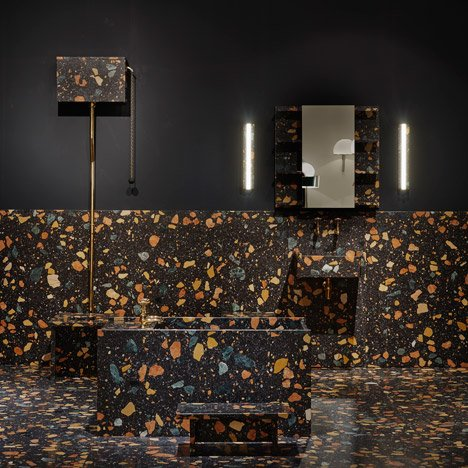 Max Lamb installs multicoloured manmade-marble bathroom at Design/Miami Basel 2015