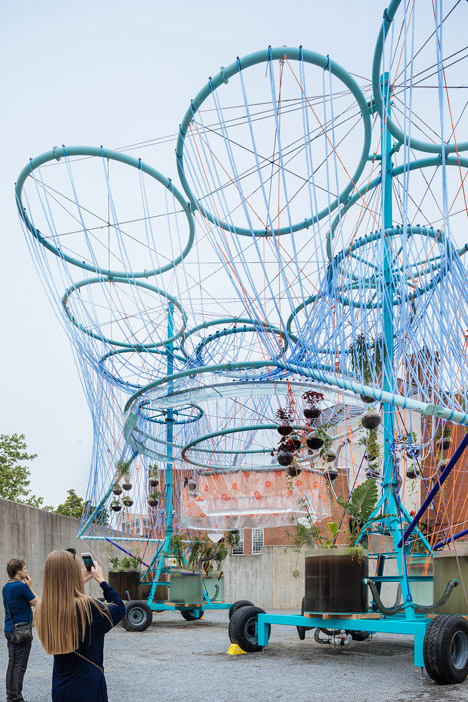 MoMA PS1 Museum Cosmo installation by Andres Jaque of Office for Political Innovation