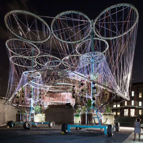 Andrés Jaque's giant water purifier unveiled in MoMA PS1 courtyard