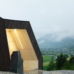Mountain View House nestles against a hillside in the Austrian Alps