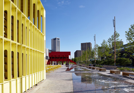 New-Horizons-LFA-Red-Yellow-Pavilion-Hall-McKnight_TAKA-Clancy-Moore-Steve-Larkin_dezeen_468_9