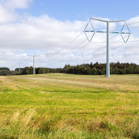 "New pylons by architect Erik Bystrup will ""become part of the landscape"""