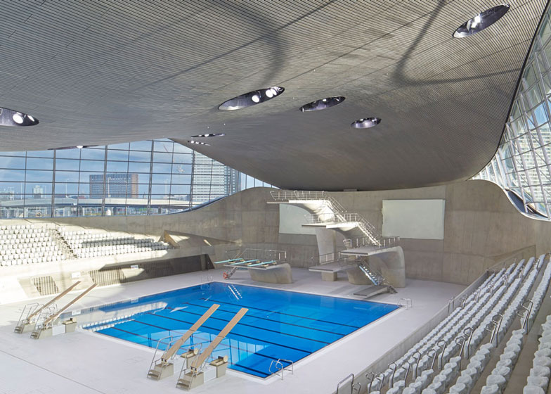 Olympic aquatics centre by Zaha Hadid