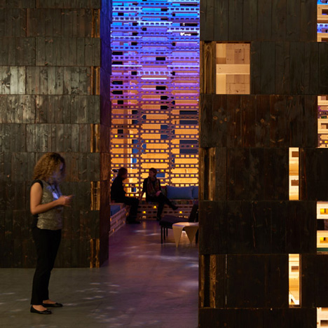 Outpost Basel lounge by Olson Kundig at Design Miami/Basel 2015