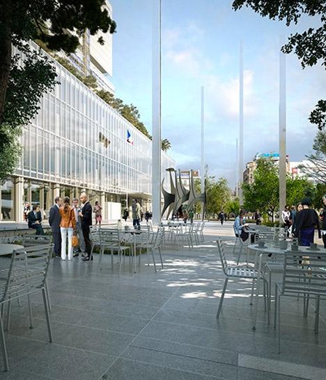 Paris High Court Plaza, France