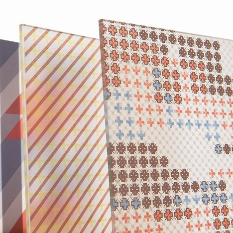 Patricia Urquiola adds graphic patterns to architectural glass