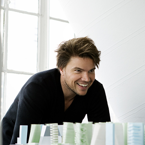 Portrait of Bjarke Ingels by Steve Benisty