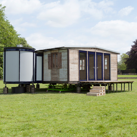 Richard Rogers' adaptation of Jean Prouve's 6x6 demountable house for Galerie Patrick Seguin
