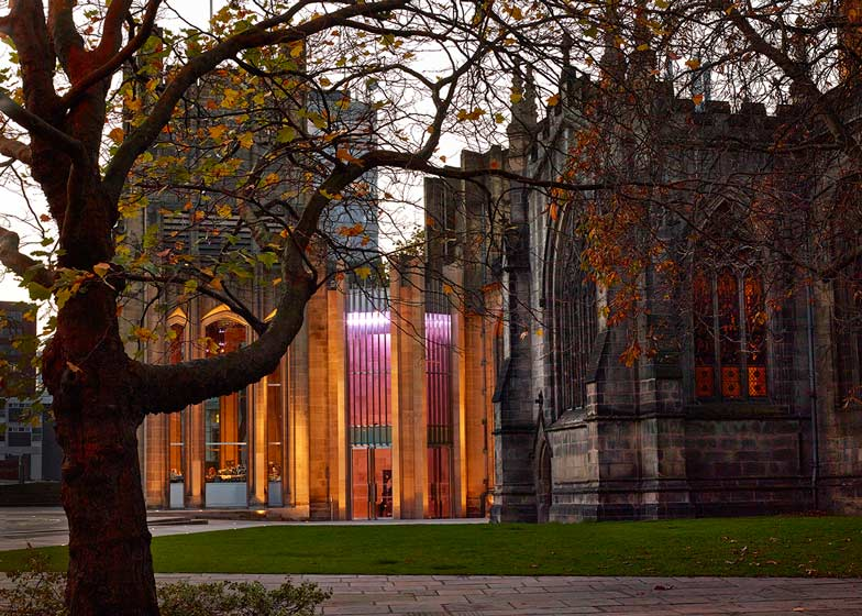 Sheffield Cathedral, New Main Entrance and reordering by Thomas Ford and Partners