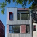 Corrugated metal clads Brooklyn townhouse by Etelamaki Architecture