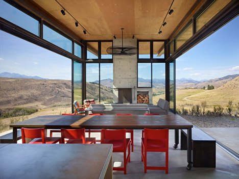 The Studhorse house is located in a remote area in Washington State