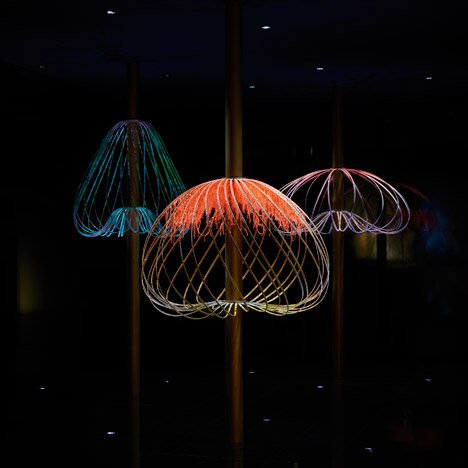 Elaine Yan Ling Ng's interactive Sundew installation coils in response to movement