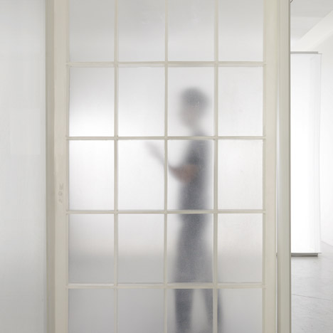 Nameless Architecture reinterprets the traditional Korean door using resin and silicone