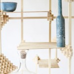 Pascal Smelik's Pixel Cabinet is joined by clusters of wooden cubes
