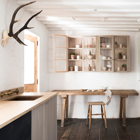 "Sebastian Cox's ""urban rustic"" kitchen for DeVol features sawn and woven timber"