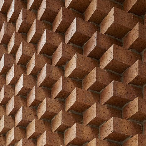 SO-IL adds decorative brick entrance to Tina Kim Gallery in Manhattan