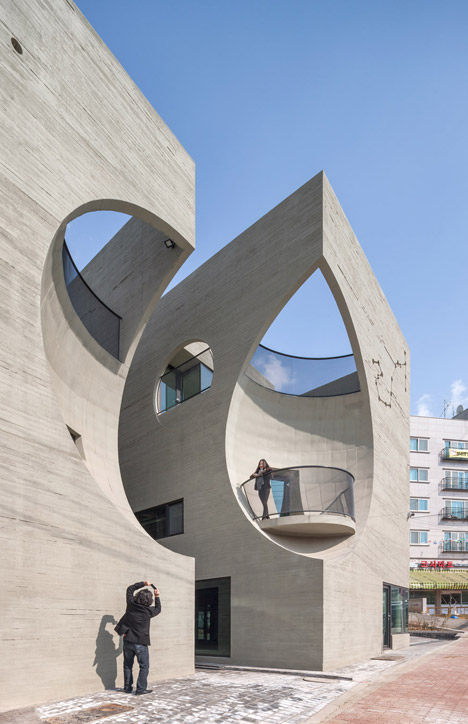 Seoul Buildings By Moon Hoon Have Concave Facades