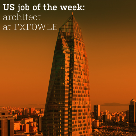 Dezeen Jobs architecture and design recruitment  US job of the week: architect at FXFOWLE US JOTW FXFOWLE