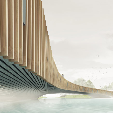 NEXT Architects' bat-friendly bridge has winter roosts built into its concrete structure