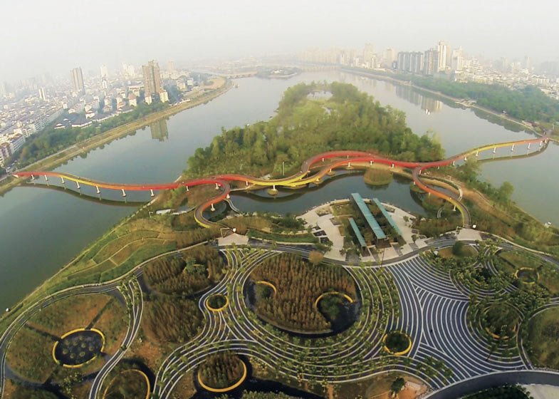 Yanweizhou Park by Turenscape International