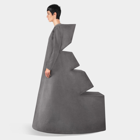 Yuri Pardi incorporates geometric blocks into Monument graduate fashion collection
