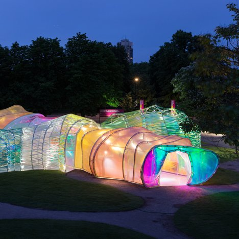 Serpentine Pavilion 2015 by SelgasCano photographed by Iwan Baan