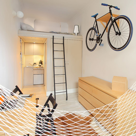 Szymon Hanczar crams his entire city home into 13 square metres