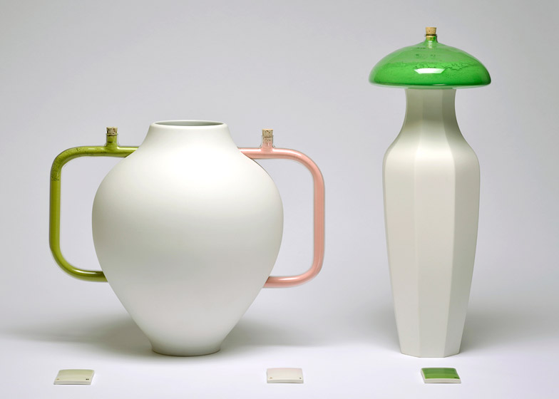 Glazing Pigments And Vases Kept Apart For A Matter Of Colour