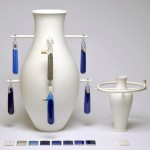 Glazing pigments and vases kept separate for A Matter of Colour exhibition