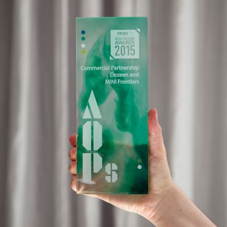 Dezeen and MINI Frontiers named Best Commercial Partnership at AOP Awards 2015