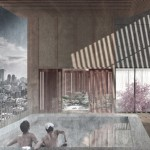 "Adam Roberts proposes stacking traditional Kyoto dwellings to create ""machiya towers"""