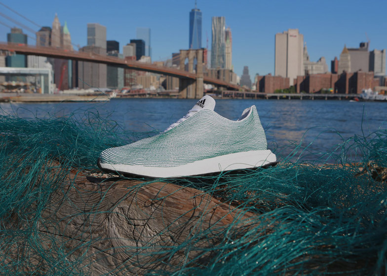 dccca3d17a0d1 Adidas unveils sports shoes made from recycled ocean waste