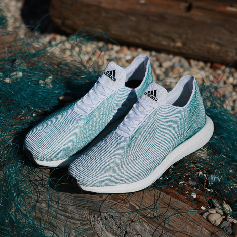 Adidas unveils sports shoes made from recycled ocean waste