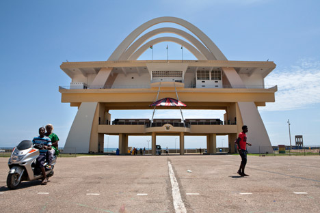 Independence Square, Accra, Ghana, photographed by Alexia Webster, 2014