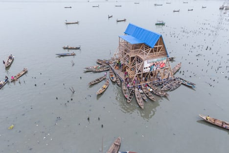 Makoko Floating School by NLE, 2014. Photograph by Iwan Baan