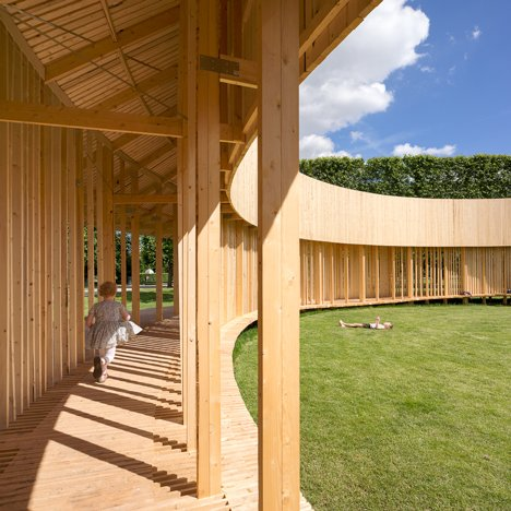 Christiansen and Andersen create a pavilion of wooden walkways in Copenhagen castle grounds