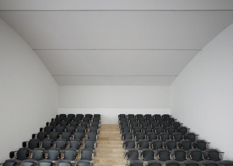 Auditório para Audiovisual by Eduardo Souto de Moura and Correia