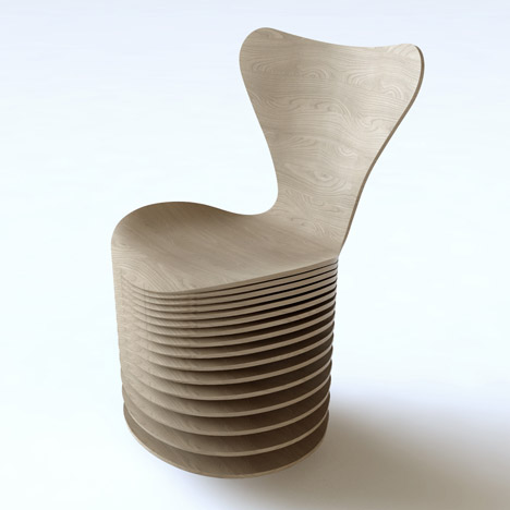 Zaha Hadid, BIG and others reinterpret Arne Jacobsen's Series 7 chair for Fritz Hansen
