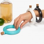 Object and Totem's hip flask fits on the wrist like a bracelet