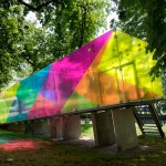 "Shift uses coloured film to create ""virtual colours"" on Bernard Tschumi's Groningen pavilion"