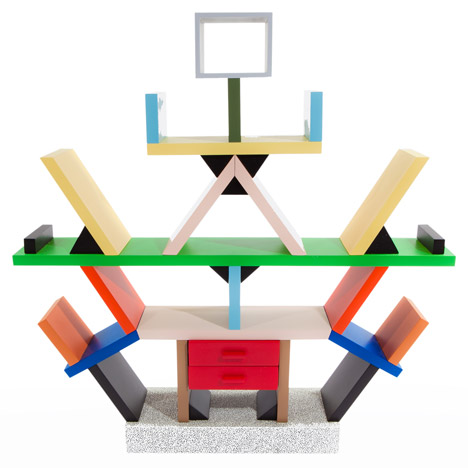Postmodern design: Carlton bookcase by Ettore Sottsass