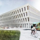 BIG-designed office building breaks ground at Philadelphia's Navy Yard