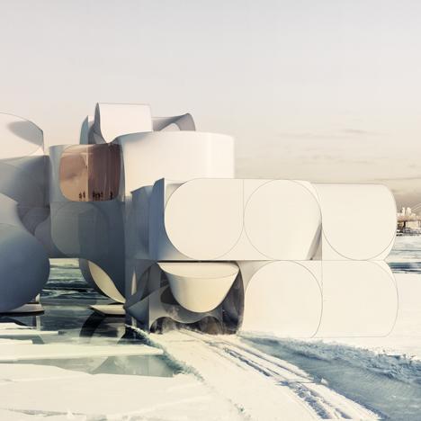 Conceptual Cirque du Soleil venue combines complex geometrical forms