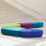 Noé Duchaufour-Lawrance creates colourful modular seating for Bernhardt Design