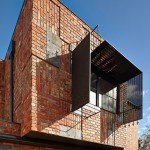 Bricks, doors and roof tiles recycled by Phooey Architects for Melbourne house extension